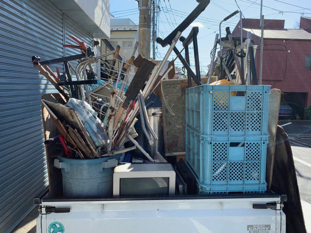 一軒家の残置物処分・回収を行いました。港区(東京都)回収した物の写真1
