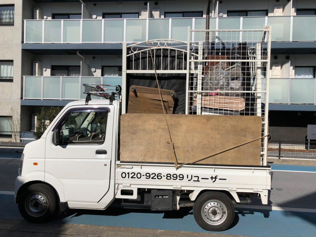 不用品を軽トラック一杯パック+半分パックで回収(品川区)の写真1