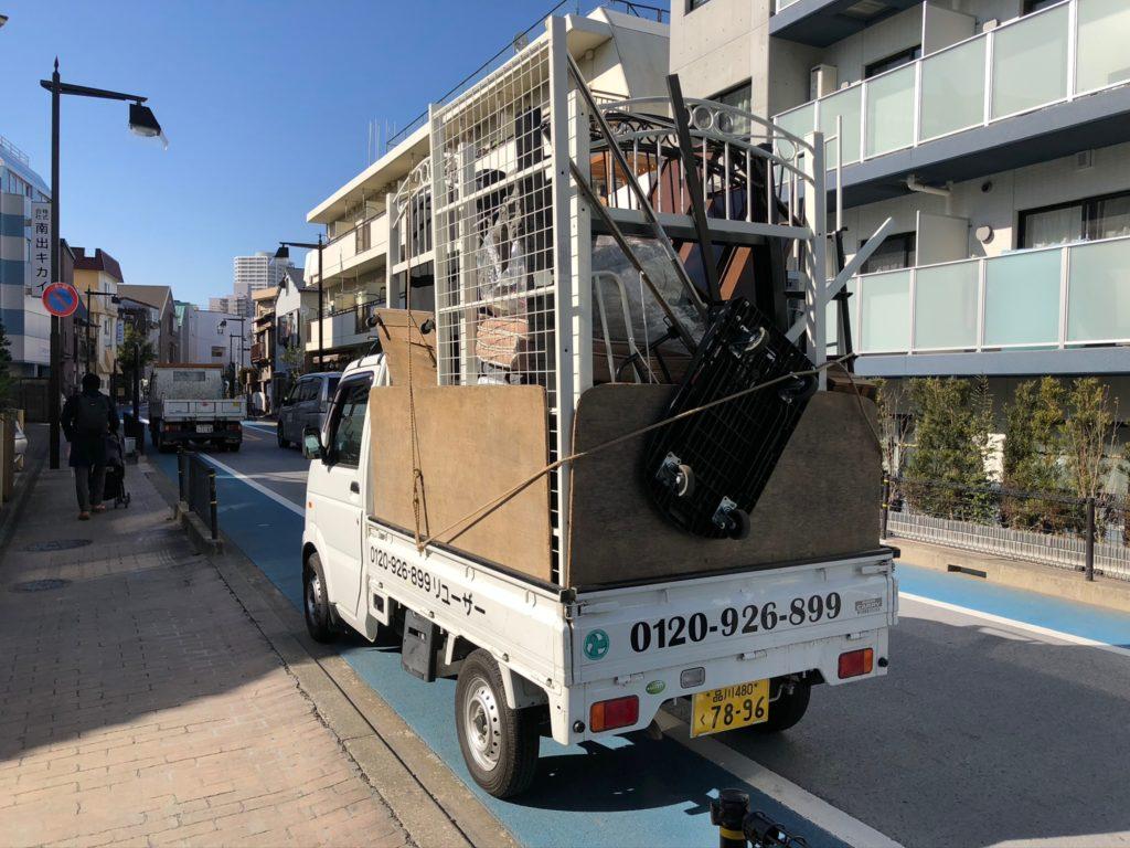 不用品を軽トラック一杯パック+半分パックで回収(品川区)の写真2