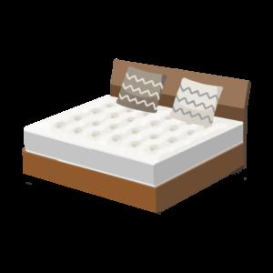 不用なベッドの絵