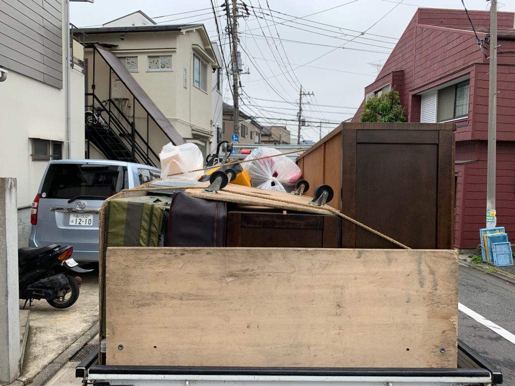 軽トラック一杯パックにて回収 中原区(川崎市)の写真1