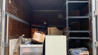 2tアルミ(箱車)にて2tトラック分の不用品を回収(品川区)の写真1