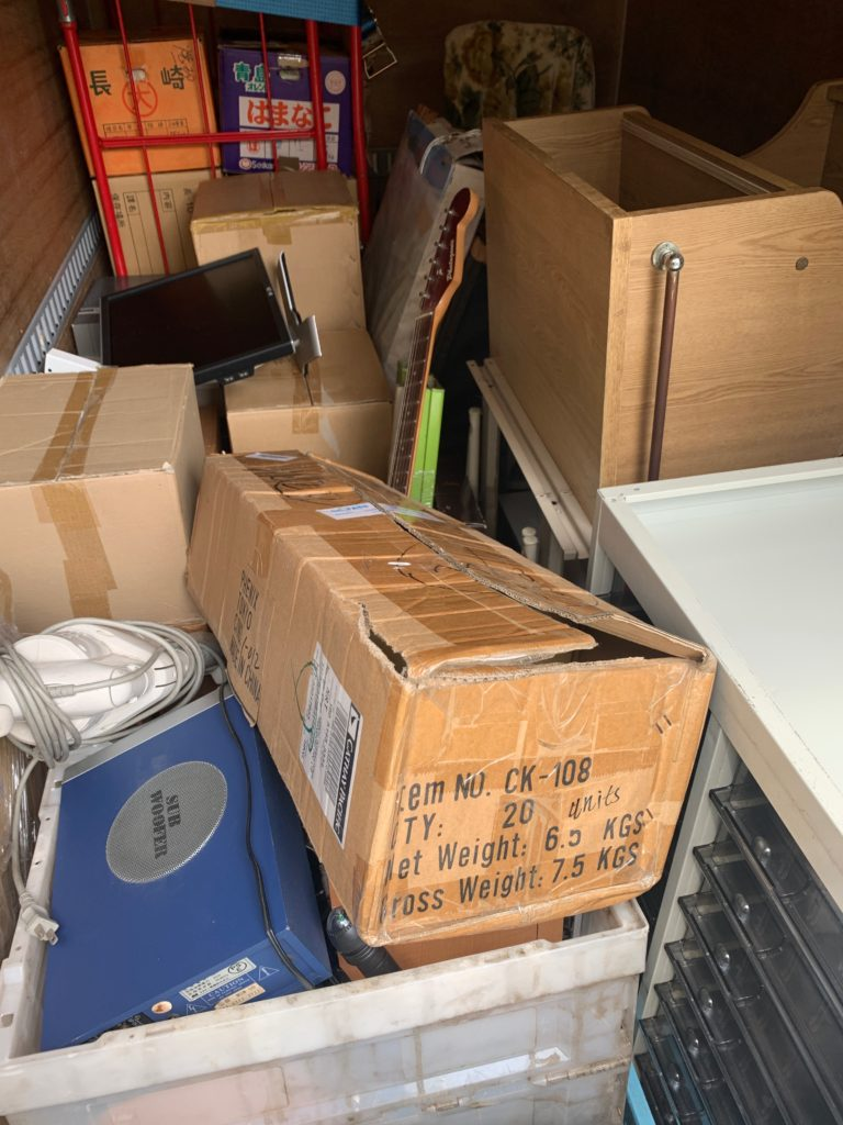 2tアルミ(箱車)にて2tトラック分の不用品を回収(品川区)の写真2