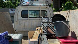 軽トラック半分パックにて不用品を回収(中野区)の写真1