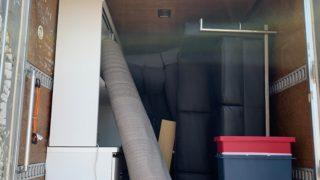 2トンアルミバンでのお引越し前の不用品回収の写真(品川区)