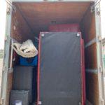 2トンアルミバンでのお引越し前の不用品回収の写真(渋谷区)
