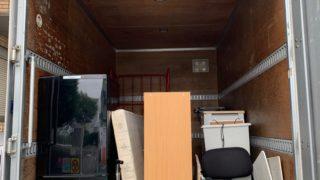 引越し前の不用品を2tトラック一杯パックにて回収の写真(目黒区)
