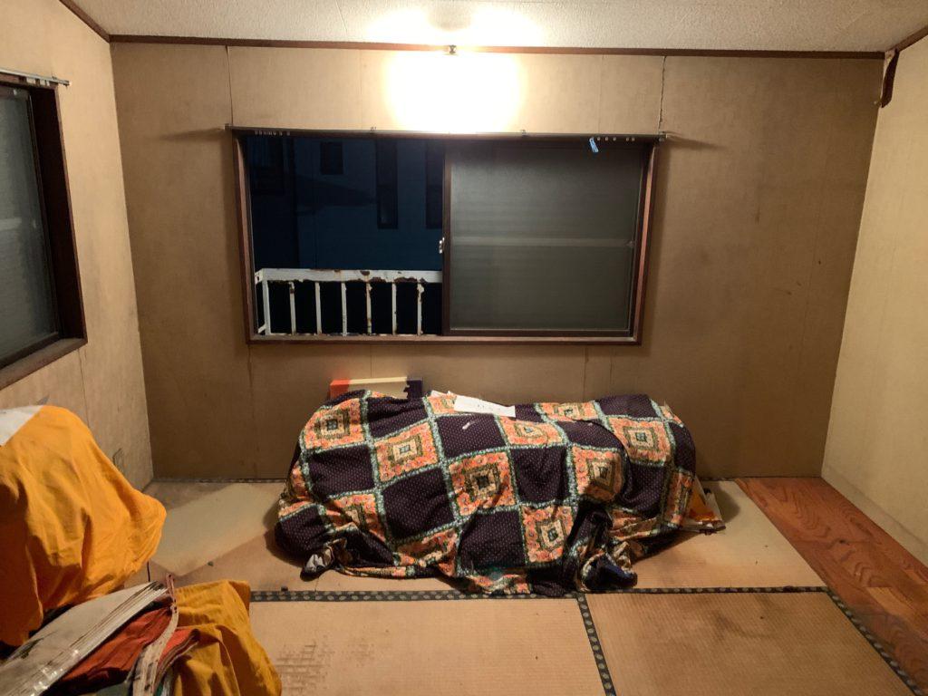 一軒家の残置処分後の写真(三階部屋1)品川区