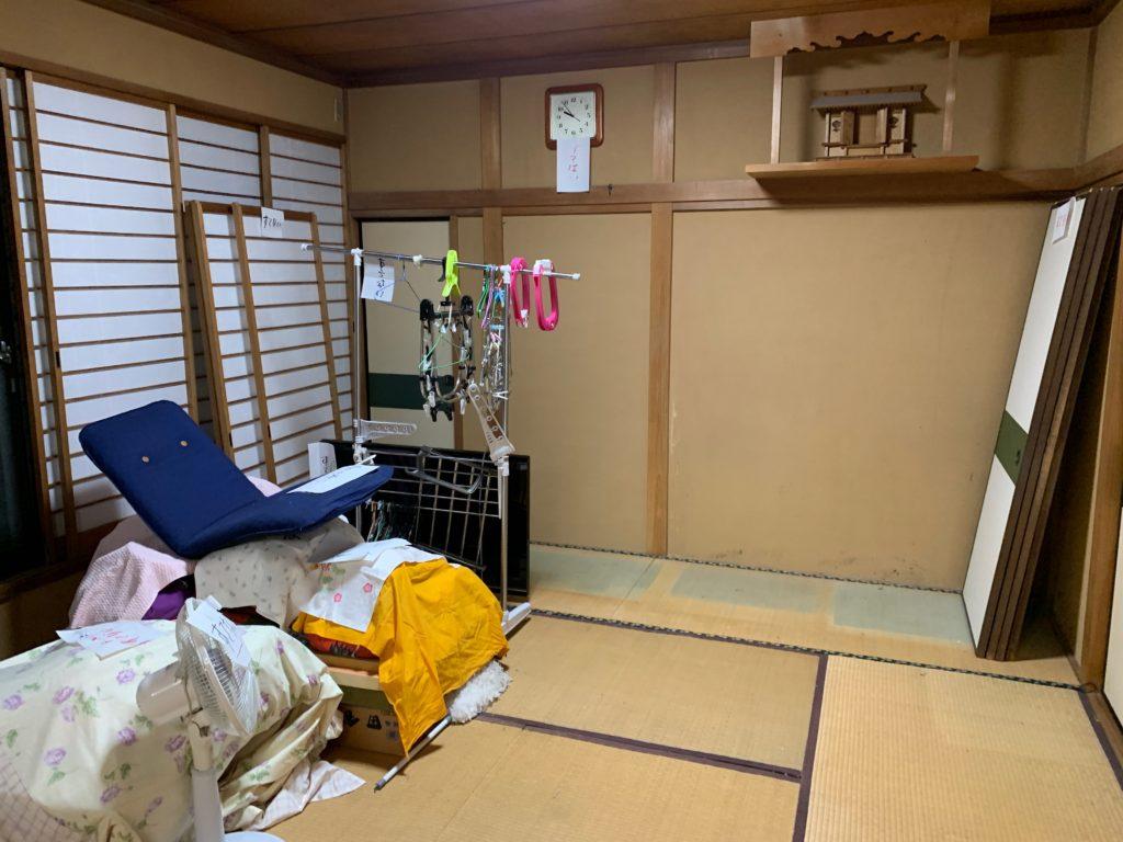 一軒家の残置処分後の写真(二階部屋2)品川区