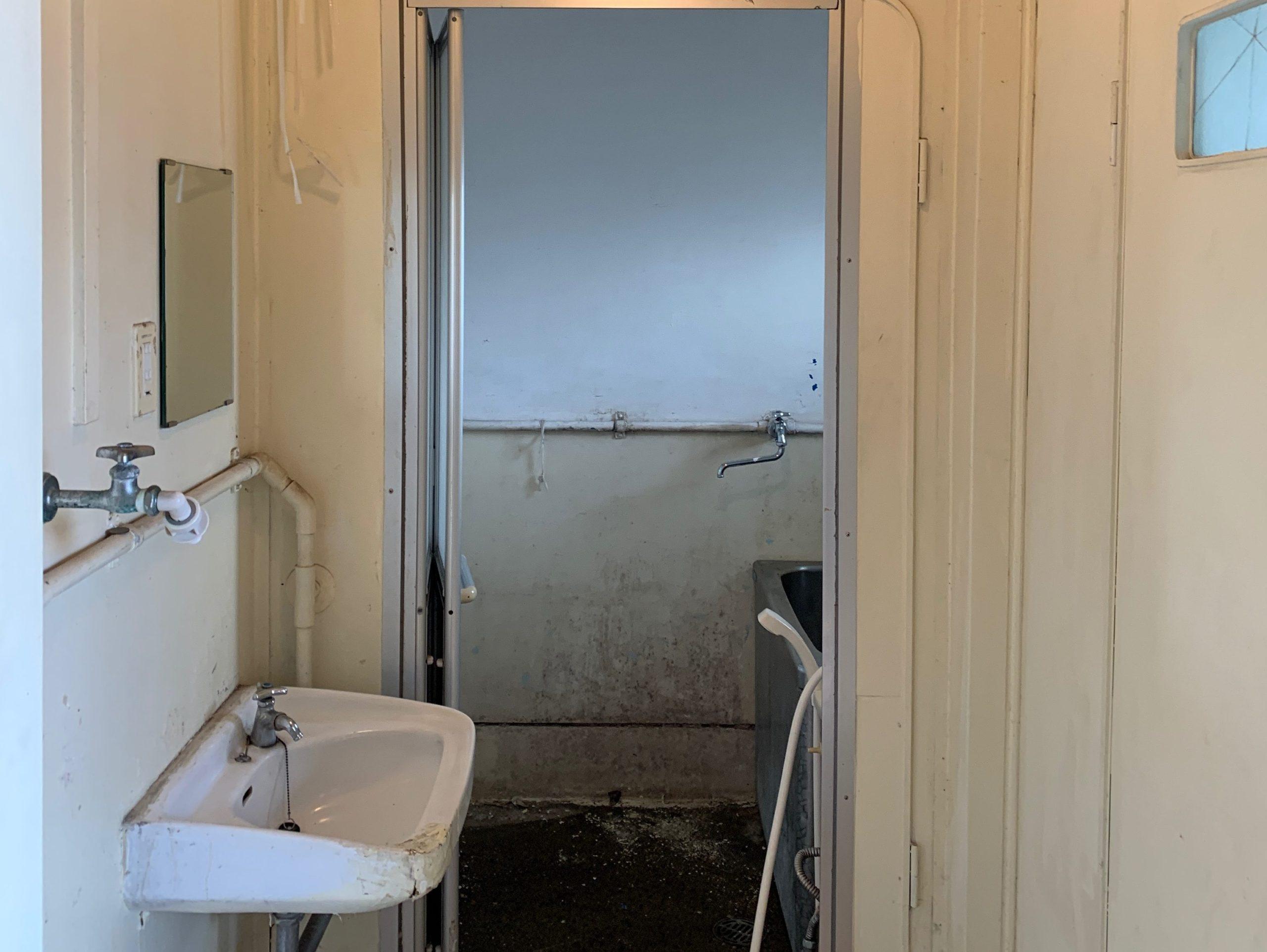 都営住宅の残置物処分(生前整理)後の写真(お風呂場)目黒区