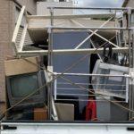軽トラック一杯パック+半分パックにて不用品を回収した写真。新宿区