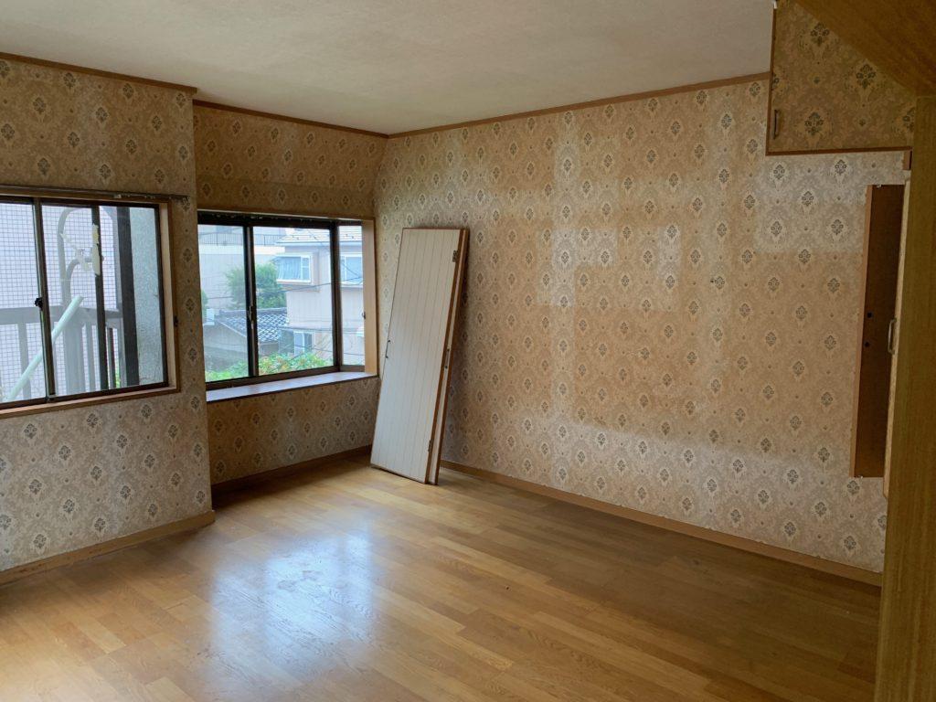 三回建戸建ての残置物処分後の写真(三階部屋3)港区